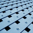 Stockfoto: Blue metal grate texture