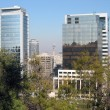 View of Santiago de Chile from Santa Lucia hill — Stock Photo