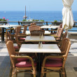 Stock Photo: Sea-side cafe. Tenerife island, Canaries