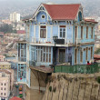 Stock Photo: Famouse hillside house in Valparaiso, Chile