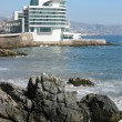 Luxurious hotel on the Pacific coast in Valparaiso, Chile — Stock Photo