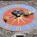 Ancient clock. Lucerne, Switzerland — Stock Photo