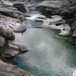 Mountain river in Verzasca Valey - Stock Photo