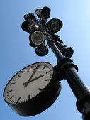 Clock on a lamppost — Stock Photo