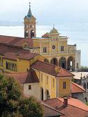 Old church in Madonna del Sasso overlook Magiore lake, Switzerla — Stock Photo