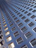 Blue steel grid — Stock Photo