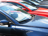 Row of cars — Stock Photo