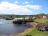 Harbor of Hangaroa vilage, Easter Island — Stock Photo
