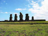 Moais of Easter Island — Stock Photo