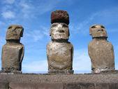 Ahu Tongariki. Moais of Easter Island — Stock Photo