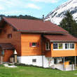 Holiday house in Swiss Alps — Stock Photo