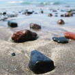 Stock Photo: Black volcanic beach of Tenerife island, Canaries