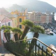 Early morning in the port of Camogli, Italy — Stock Photo