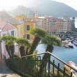 Early morning in the port of Camogli, Italy — ストック写真