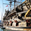 Old Spanish galleon in the port of Genoa - Stock Photo