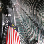 Petronas towers at night. Kuala Lumpur, Malaysia — Stock Photo #21091015