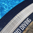 No Diving area of a swimming pool - Stock Photo