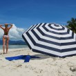 Beach scene. Langkawi island, Malayisa — Stock Photo #21091819