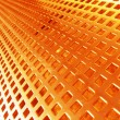 Red-hot metal mesh — Stock Photo