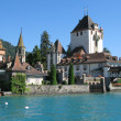 Oberhofen castle at the lake Thun, Switzerland  — Stock Photo