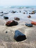 Black volcanic beach of Tenerife island, Canaries — Stock Photo
