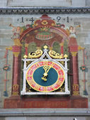 Ancient clock in Constance, Germany — Stock Photo
