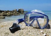 Snorkeling set on Karon beach of Phuket island, Thailand — Stock Photo