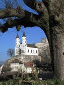 View to mediveal castle in Aarburg, Switzerland — Stock Photo