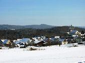 Vista de Inverno da illnau, Suíça — Fotografia Stock