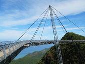Famous hanging bridge of Langkawi island, Malaysia — Stock Photo