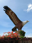 Eagle square in Kuah town, Langkawi. — Stock Photo