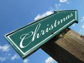 CHRISTMAS road sign — Stock Photo