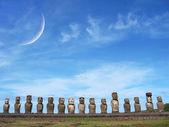 Ahu Tongariki, Easter Island — Stock Photo