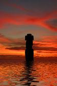 Ahu Tahai. Moai of Easter Island at dusk — Stock Photo