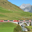 Постер, плакат: Alpine express at Furka pass Switzerland