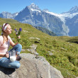 Trekking in the Swiss Alps — ストック写真