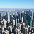 Stock Photo: Aerial view of Manhattan, NYC