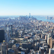 Aerial view of Manhattan, NYC — Stock Photo