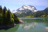 Waegitaler lake, Switzerland — Stock Photo