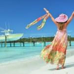 cena de praia. Exuma, bahamas — Fotografia Stock  #25647273