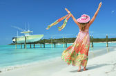 Beach scene. Exuma, Bahamas — Stock Photo