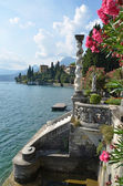 View to the lake Como from villa Monastero. Italy — Stock Photo