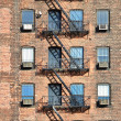 Fire escape, NYC — Stock Photo