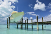 Yacht pier. Exuma, Bahamas — Stock Photo