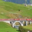 SWITZERLAND - SEP 16: Glacier Express of Matterhorn-Gotthard rai — Stock Photo