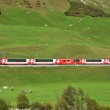 SWITZERLAND - SEP 16: The Glacier Express is the most famous rai — Stock Photo
