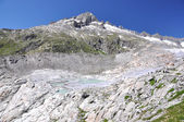Melting Rhone glacier, Switzerland. View from Furka Pass — Stock Photo