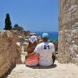 Stock Photo: Couple among ancient ruines of Kourion in Cyprus
