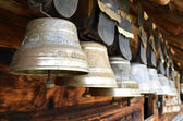 Traditional Swiss cowbells — Stock Photo