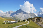 Mountain trails. Jungfrau region, Switzerland — Stock Photo